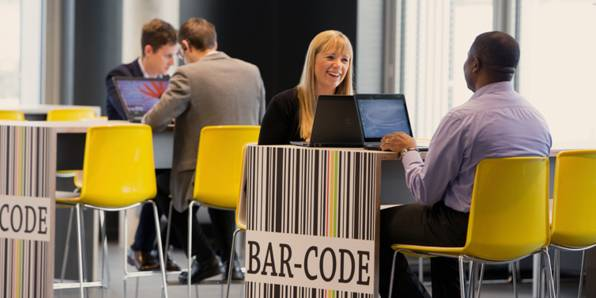 Office - sitting in barcode